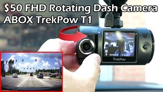 Download ABOX Trekpow HD 1080P 180°Rotating Camera Car Dashcam Video