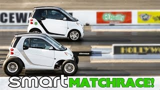 Download CRAZY SMART CARS MATCH RACE! BIG BLOCK CHEVY VS TOYOTA BLOWN PASEO! RT66! FRIDAY NITE! Video