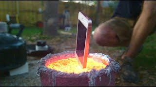 Download iPhone in Molten Aluminum Video