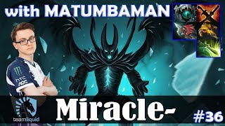 Download Miracle - Terrorblade Safelane | RAMPAGE with MATUMBAMAN (Venomancer) | Dota 2 Pro MMR Gameplay #36 Video