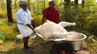 Download 8 KG Full Turkey !!! Yummy Turkey Gravy prepared by uncle | food fun village Video