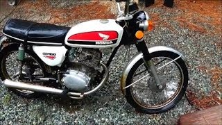 Download 1973 Honda CB100 Barn Find First Start In 36 Years Video