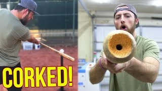 Download Does A Corked Baseball Bat Actually Work? IRL Baseball Challenge Video
