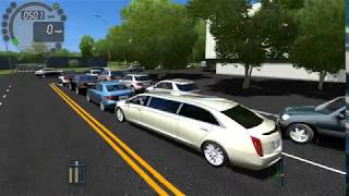 Download City Car Driving Cadillac XTS Royale limousine-Traffic jam (100) Video