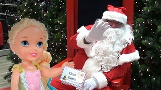 Download Anna and Elsa Toddlers Go Christmas Shopping Toy Hunting List New Playing Fun Santa Toys In Action Video