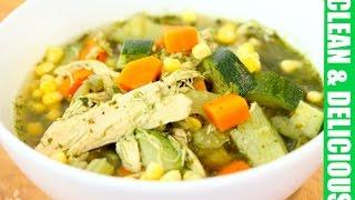 Download Immunity Boosting Green Chicken + Veggie Soup Recipe Video