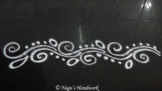 Download Simple Border Rangoli Design-Border Design By Nagu's Handwork Video