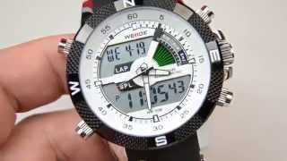 Download Weide luxury 3ATM waterproof dual time sports watches Video