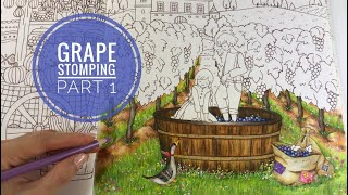 Download Grape Stomping - Part 1: VAT & GRASS COLORING | ROMANTIC COUNTRY Video