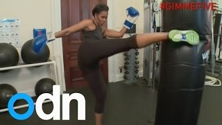 Download Michelle Obama shows off fitness in workout video Video