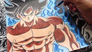 Download como dibujar a goku limit breaker   how to draw goku limit breaker   Dragon ball super Video