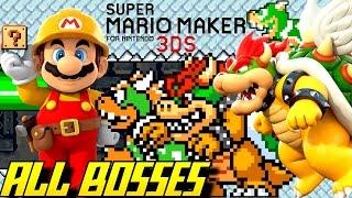Download Super Mario Maker 3DS - All Bosses (Super Mario Challenge) Video