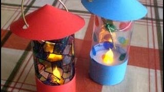 Download How to make a lantern from an LED tealight Video