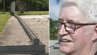Download This Old Man's Neighbor Split Their Driveway With Cinder Blocks – So He Taught Him Some Respect Video