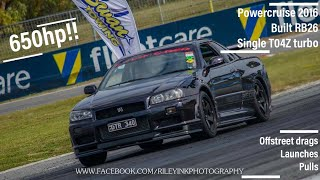 Download Midnight purple 2 650HP R34 GTR - Power cruise 2016 - HD Video