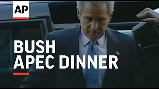 Download Scuffle as Bush arrives for APEC dinner Video