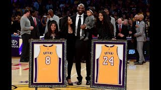 Download Kobe Bryant No.8 & No.24 Jersey Retirement In Los Angeles Video