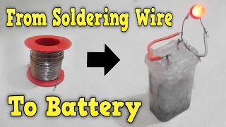Download How to make battery from soldering wire Rechargeable very easy Video