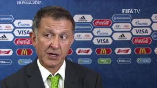 Download Juan Carlos Osorio Reaction to FIFA Confederations Cup Official Draw Video