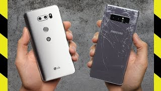 Download LG V30 vs. Galaxy Note 8 Drop Test! Video
