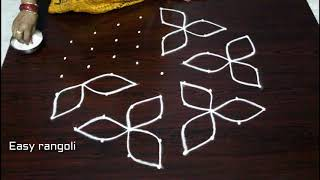 Download beautiful kolam designs with 9dots * easy chukkala muggulu * simple rangolidesigns Video