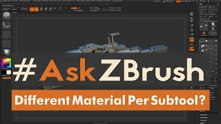 """Download #AskZBrush: """"How can I apply different materials to individual Subtools?"""" Video"""
