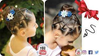 Download Peinado elegante con chongo / peinados faciles y bonitos para niña / WILVITA Video