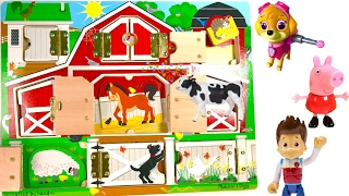 Download Best Learning Colors Animal Names - Paw Patrol on the Farm Open the Barn Video