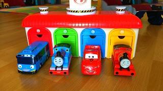 Download Thomas n Friends Disney Cars McQueen Tayo the Little Bus Garage Egg Surprise Thomas y sus Amigos Video