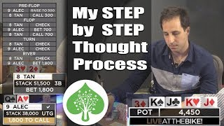 Download My Step by Step Thought Process in Poker (high stakes cash game @ Live at the BIke) Video