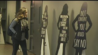 Download Display at YSU catches people's eyes during Domestic Violence Awareness Month Video