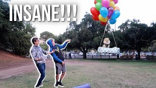 Download FLYING MY DOG WITH GIANT HELIUM BALLOONS! Video