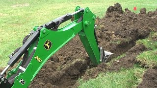 Download John Deere 1025R 260 backhoe Dig Moat (trench) for our Princess Video