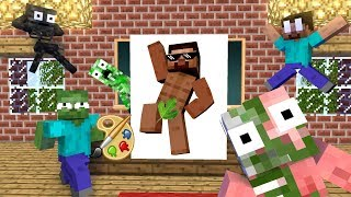 Download Monster School : Drawing - Minecraft Animation Video
