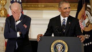 Download Obama surprises VP, Joe Biden with Presidential Medal of Freedom Video