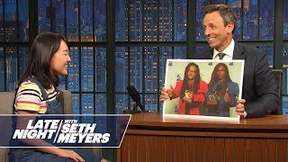 Download Seth Tests Millennial Late Night Writer Karen Chee on Her Knowledge of the Past Video