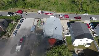 Download Fire Department Fail? You be the judge. - Explosion & House Fire Caught w/ Drone Video