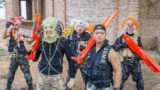 Download LTT Films : Hunter Squad Silver Flash Nerf Guns Fight Crime Group BIGMAN Mask Invisible Monsters Video