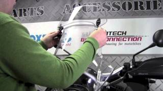 Download MRA X-creen Touring bolt-on windscreen extension on BMW R1200GS Video