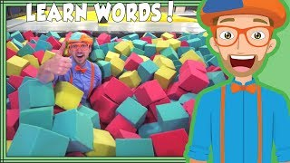 Download Learning Words with Blippi at the Trampoline Park | Videos for Toddlers Video