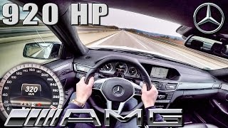 Download Mercedes E63 AMG 920 HP POV Autobahn 320 km/h 5.8 V8 BiTurbo GAD Motors by AutoTopNL Video