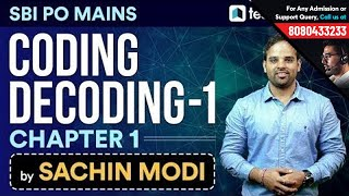 Download Coding Decoding by Sachin Modi   Chapter 1   SBI PO Mains Reasoning Special Video