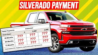 Download How much is the MONTHLY payment on a new Silverado? Video