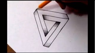 Download How To Draw The Impossible Triangle - Optical Illusion Video