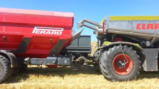 Download Claas Xerion Saddle Trac and Perard Interbene 25 Video