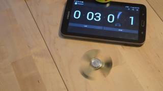 Download Brass Radioactive Isotope .67 Spinner/Fidget Toy Spin Time Video