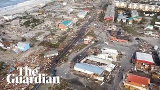 Download Hurricane Michael: footage shows devastation in Florida's Mexico Beach Video