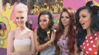 Download Little Mix on One Direction: Girls hit the orange carpet at the Nickelodeon Kids' Choice Awards Video