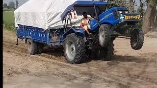 Download sonalika 750 रेत के ट्राले के साथ Video