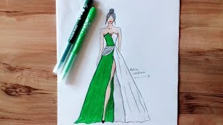 Download How to Draw Evening Dress Video
